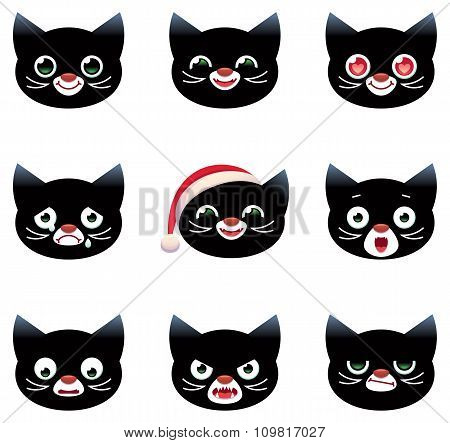 Cartoon Vector Smilies Cats