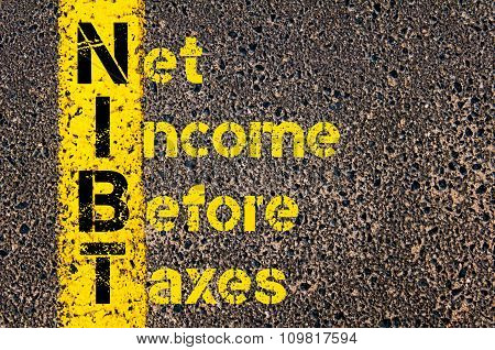 Business Acronym Nibt As Net Income Before Taxes