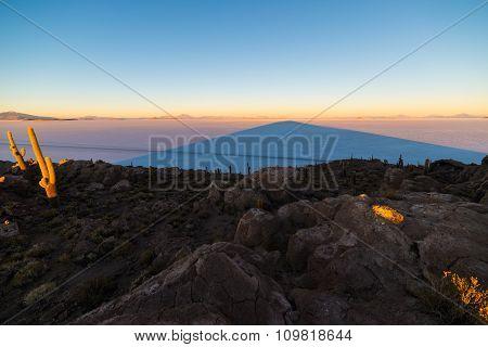 Sunrise Over Uyuni Salt Flat, Bolivia