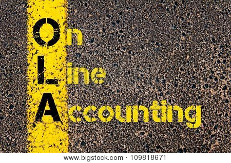 Accounting Business Acronym Ola On Line Accounting