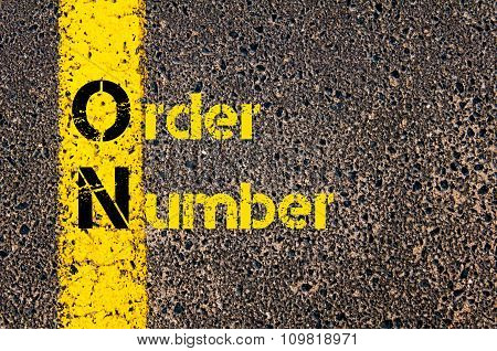 Accounting Business Acronym On Order Number
