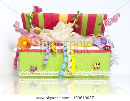 The box with kid accessories