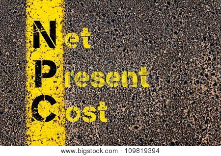Business Acronym Npc As Net Present Cost