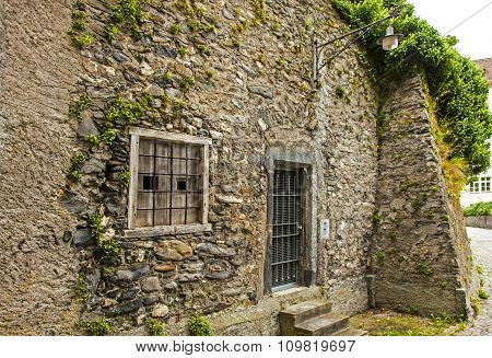 Old stone building in Chur, Switzerland