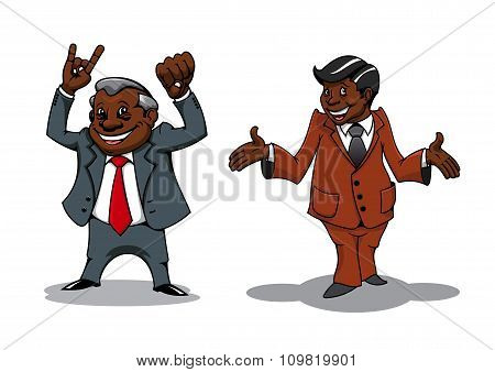 Successful cartoon businessman and manager