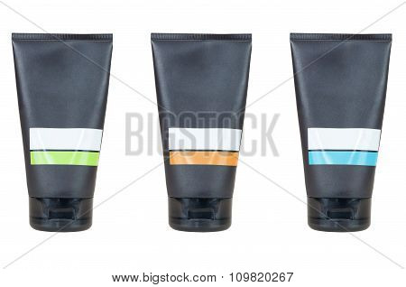Set Of Blank Cosmetic Tube Containers