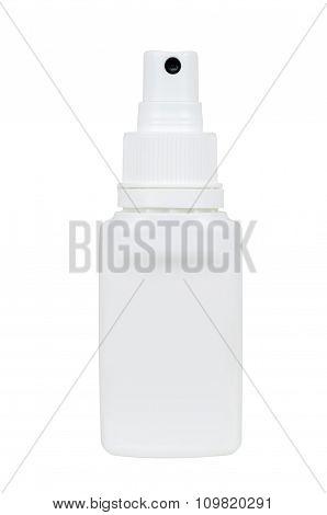 White Spray Plastic Bottle