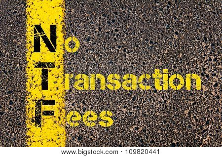 Accounting Business Acronym Ntf No Transaction Fees