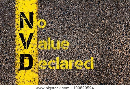 Accounting Business Acronym Nvd No Value Declared