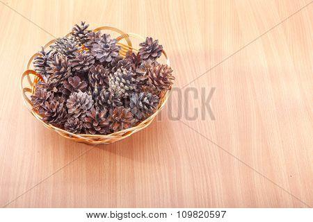 Stack Of Evergreen Pinecones
