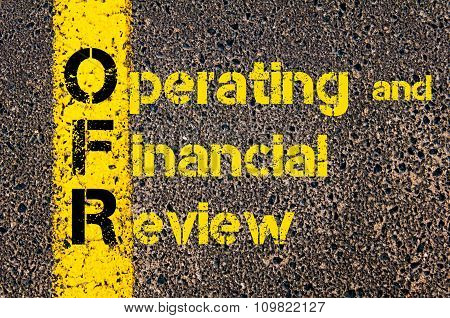 Accounting Business Acronym Ofr Operating And Financial Review