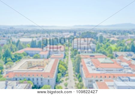 Defocused Background With University Of California, Berkeley
