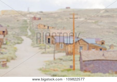 Defocused Background With Main Street In Old Wild West Town