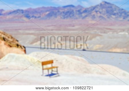 Defocused Background Of Zabriskie Point, Death Valley, California