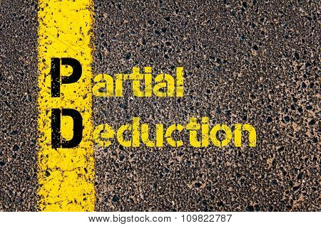Accounting Business Acronym Pd Partial Deduction
