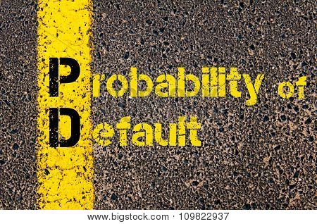 Accounting Business Acronym Pd Probability Of Default