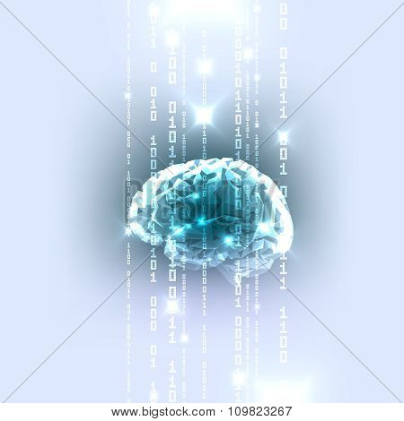 The Concept of Active Human Brain with Binary Code Stream