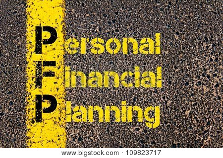 Accounting Business Acronym Pfp Personal Financial Planning