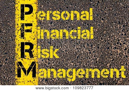Accounting Business Acronym Pfrm Promotion Funds Revenue Management