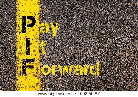 Accounting Business Acronym Pif Pay It Forward