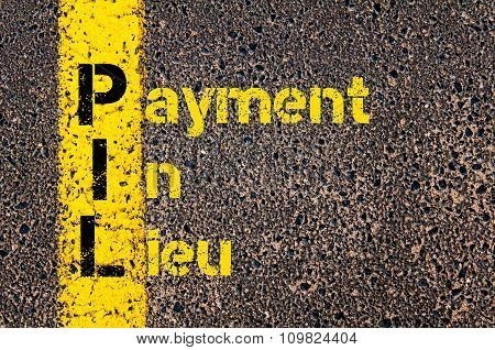 Accounting Business Acronym Pil Payment In Lieu