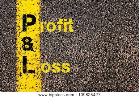 Accounting Business Acronym Pl Profit And Loss