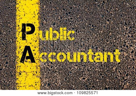 Accounting Business Acronym Pa Public Accountant