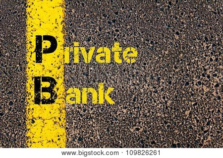Accounting Business Acronym Pb Private Bank