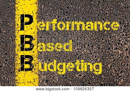 Accounting Business Acronym Pbb Performance Based Budgeting