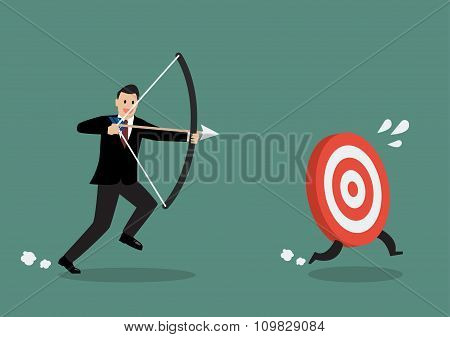 Target Run Away From Businessman Archer