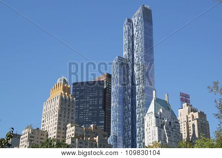 Modern and old buildings at Central Park South