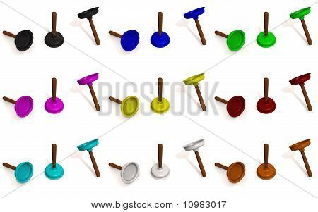 Color Toilet Plungers