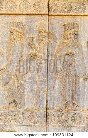 Noblemen relief detail Persepolis