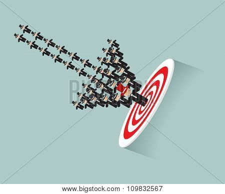Focus Your Goal By Businessman