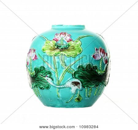 Antique Majolica Tin-glazed Vase