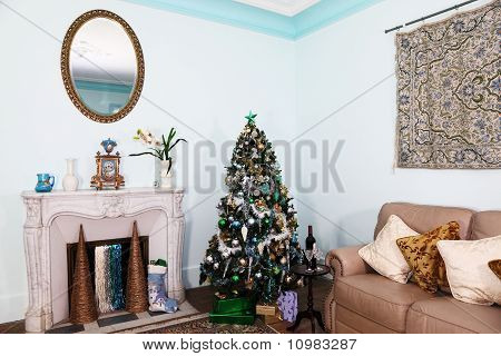Christmas Living Room Interior