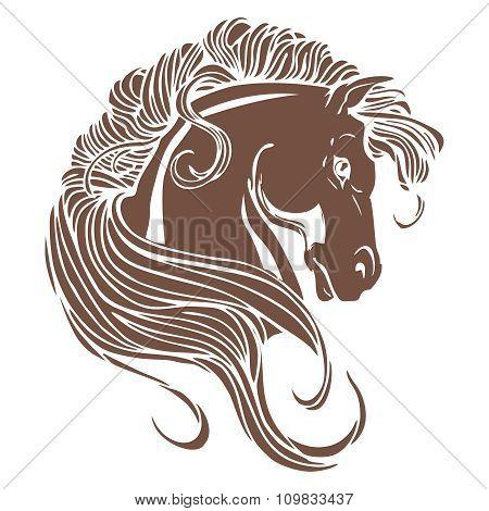 Vector artistic Horse head illustration
