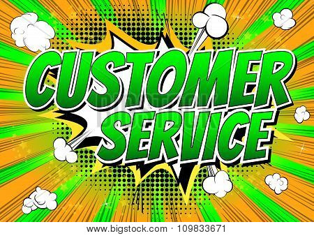 Customer Service - Comic book style word