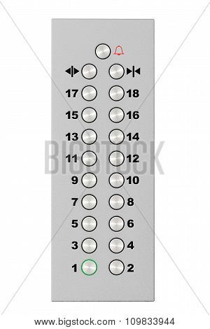 Metal Chrome Elevator Buttons