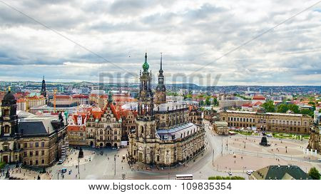 Historical Center Of The Dresden Old Town. Dresden Has A Long History As The Capital And Royal Resi