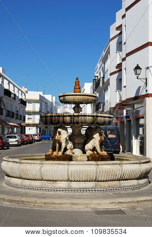 Fountain, Conil de la Frontera.