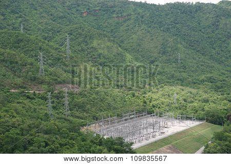 View Of Srinakarin Dam In Kanchanaburi