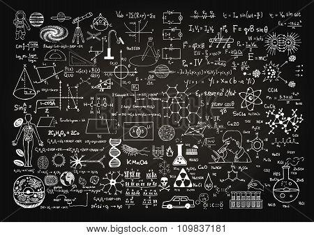 Science On Chalkboard