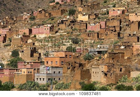Moroccan village in Anti Atlas Mountains, Africa