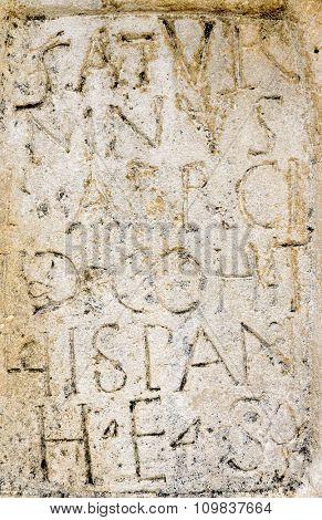 Old Roman stone inscription