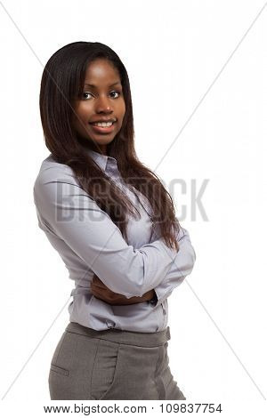Young black businesswoman portrait