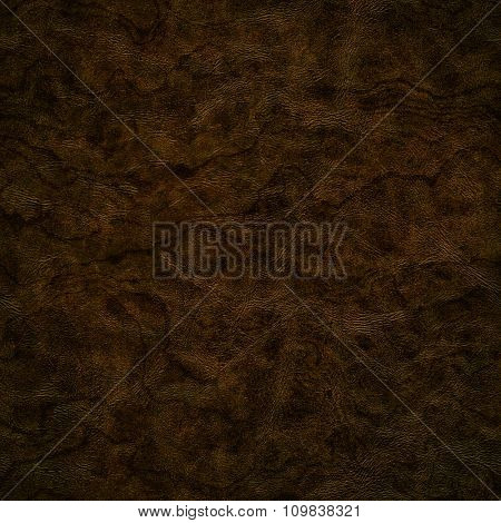 Natural dark brown leather texture for background