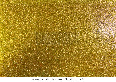 Gold glitter background for Christmas