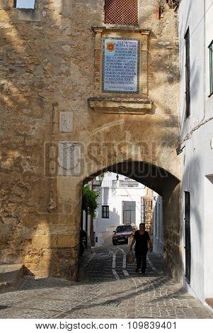 Arch in castle wall, Vejer de la Frontera.