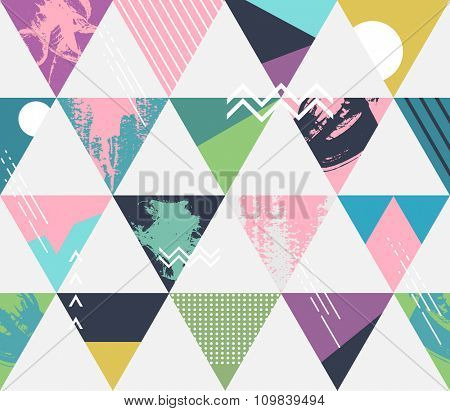 Abstract seamless geometric background